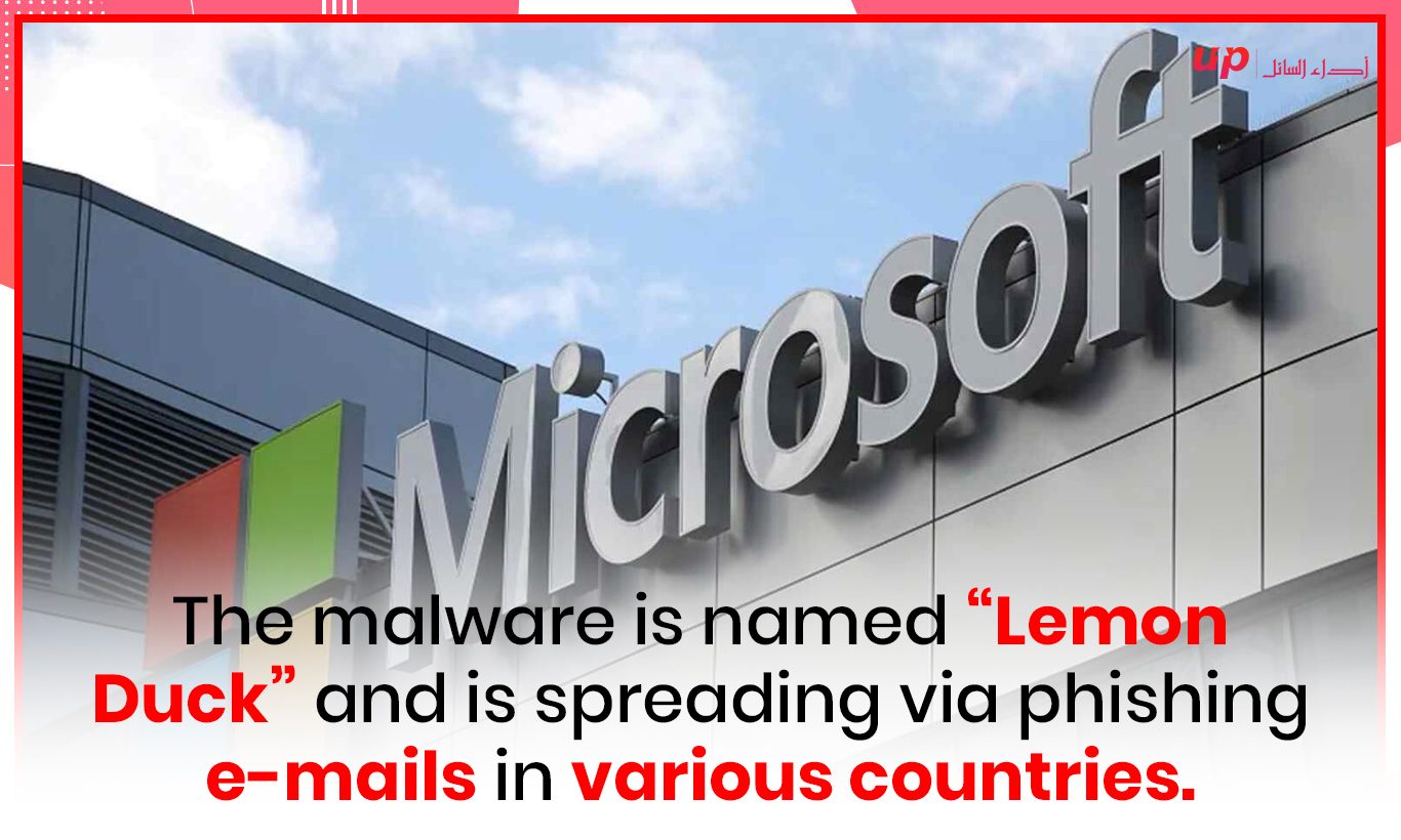 """The malware is named """"Lemon Duck"""" and is spreading via phishing e-mails in various countries."""