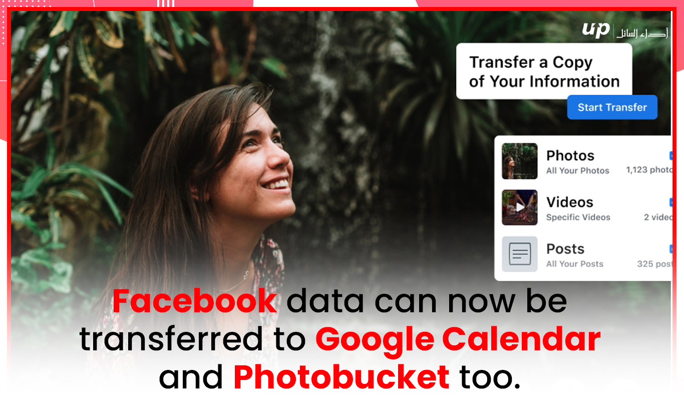 Facebook data can now be transferred to Google Calendar and Photobucket too.