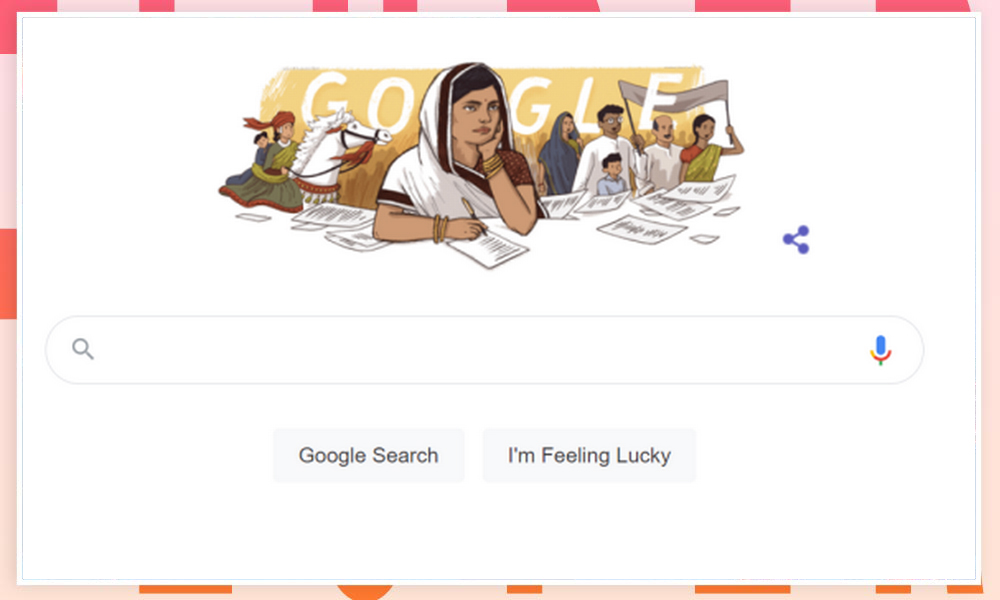 Google Doodle today honors India's first woman Satyagrahi on its 117th Jubilee