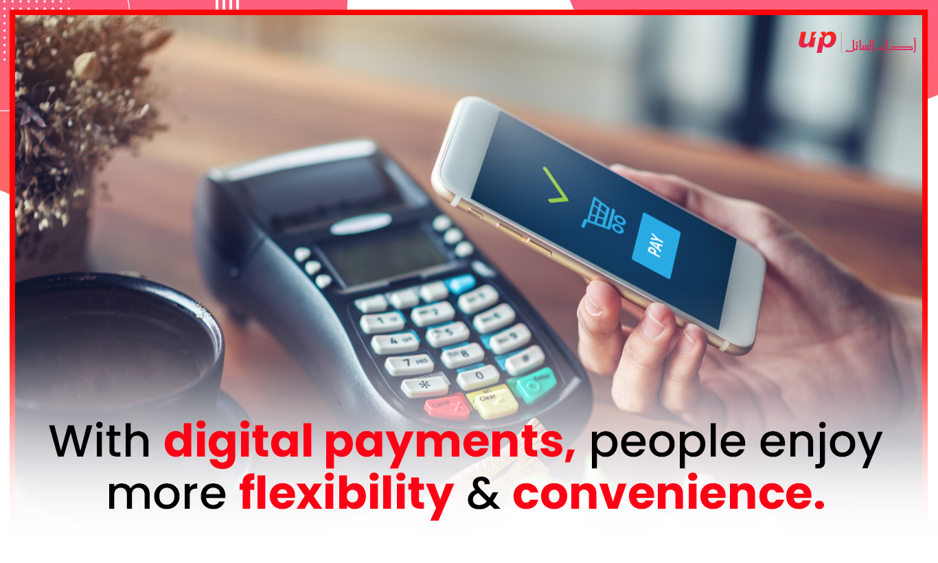 With digital payments, people enjoy more flexibility & convenience.