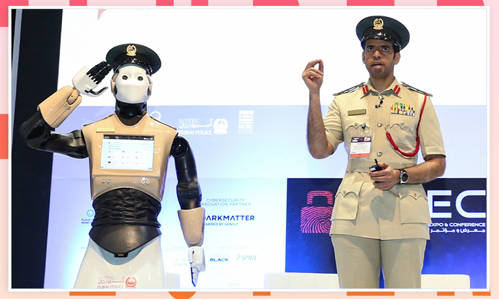 UAE Robocop provided with official police badge